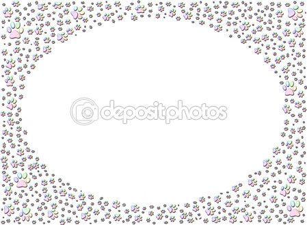 cane o gatto stampa zampa stampe cornice — Foto Stock © Artida #1800314