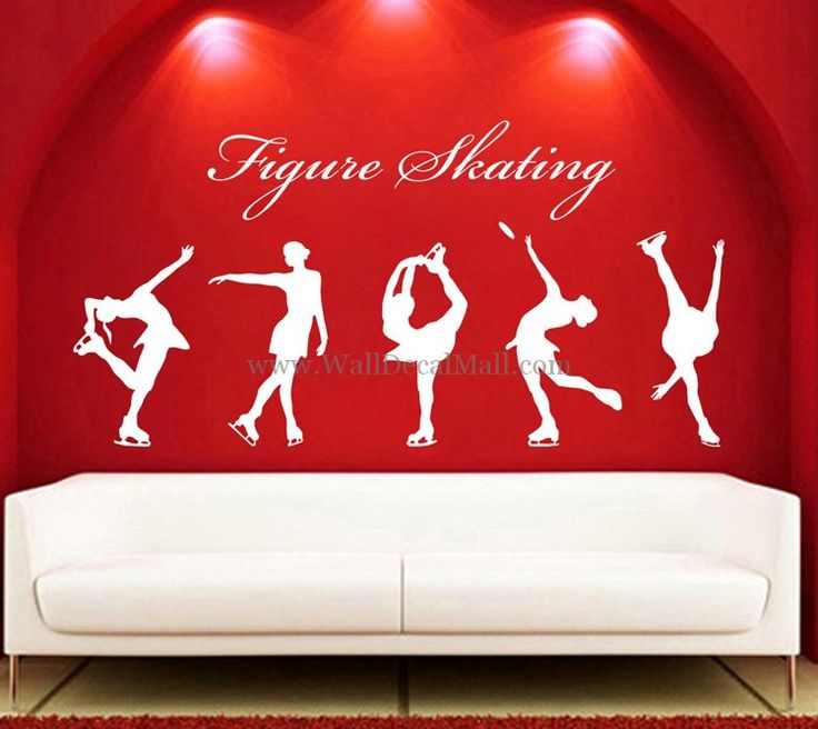 Figure Skating Sports Wall Decals – WallDecalMall.com