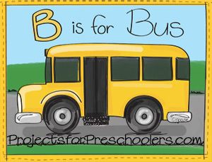Colouring Pages For Toddlers Alphabet : Best b is for boat bus images preschool