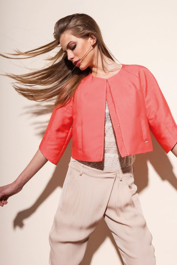 BABELE giacchino girocollo, FLECK blusa m/l con ricamo pizzo, EASTWOOD pantalone viscosa fluida