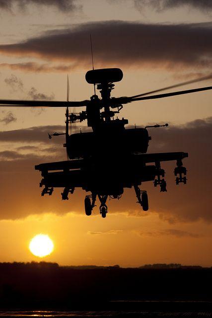 Apache at Sunset