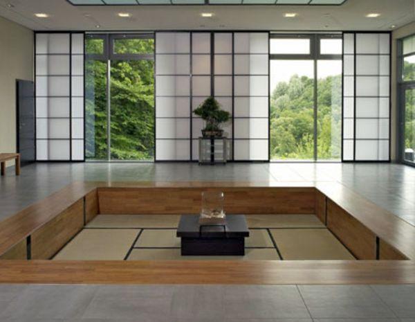 interieur maison japonaise moderne. Black Bedroom Furniture Sets. Home Design Ideas