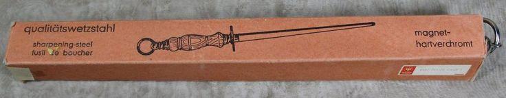 """Dreizack Germany Hartverchromt 15"""" Hanging Knife Sharpening Honing Steel w/Box #Germany"""
