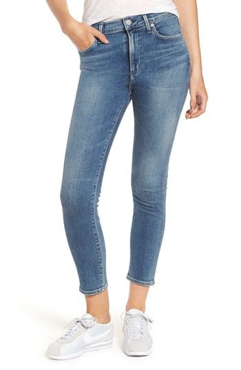CITIZENS OF HUMANITY ROCKET CROP SKINNY JEANS. #citizensofhumanity #cloth #