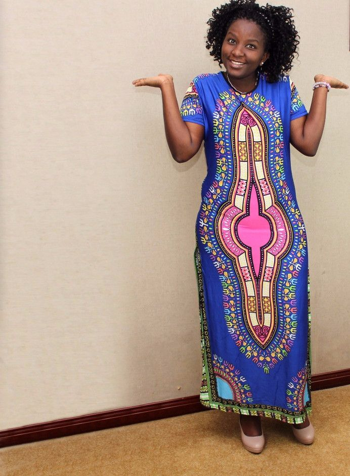 Traditional African Dashiki Print 2 in 1 Dress and Pants Set