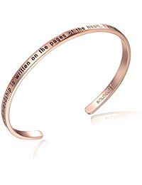 "SOLOCUTE Damen Armband mit Gravur ""The Story of Friendship is Written on the Pages of the Heart. I Am a Better Me Because of You"" Inspiration Frauen Armreif Schmuck"