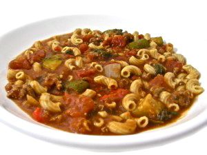 Crock-Pot, Skinny Tomato Beef Macaroni Stew. This recipe is a super meal in itself! So rich and satisfying. It freezes great too. Each main course serving has 251 calories, 4 grams of fat, and 6 Weight Watchers POINTS PLUS. http://www.skinnykitchen.com/recipes/crock-pot-skinny-tomato-beef-macaroni-stew/