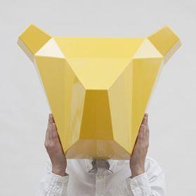 Декор для стен Alexander Kanygin Bear, медведь-ночник, желтый