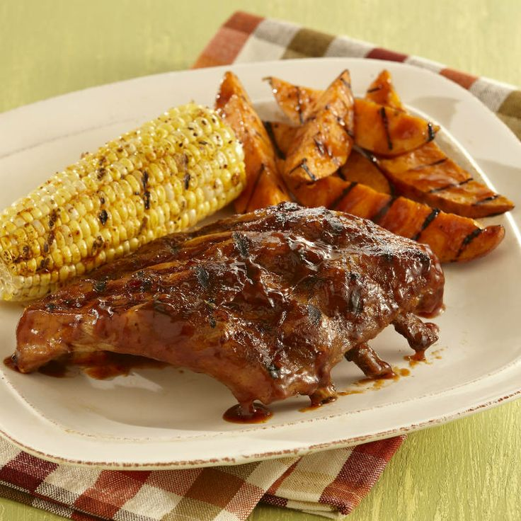 Sweet-and-Smoky Baby Back Ribs With Bourbon Barbecue Sauce ...