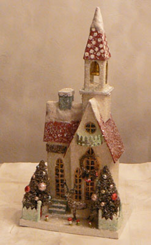 wonder if i could make these out of ceral and kleenex boxes?  Cody Foster Christmas House - Giant Winter Church