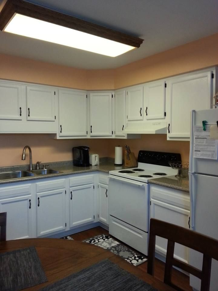 My kitchen after the facelift It had country blue counters, old dated
