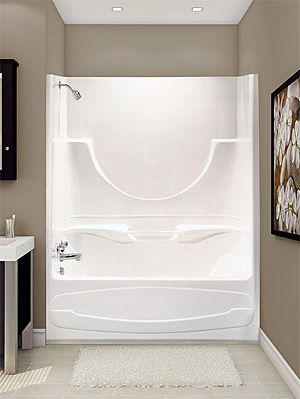 one piece shower tub 16 best Tubs images on Pinterest  Bathroom ideas One
