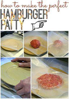 How to Make the Perfect Hamburger Patty | TodaysCreativeBlog.net