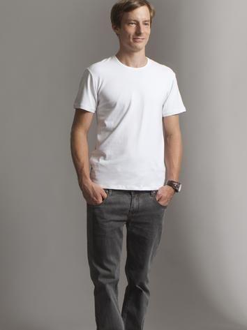 Simple white casual man t-shirt. Rock Café Fashion, Prague
