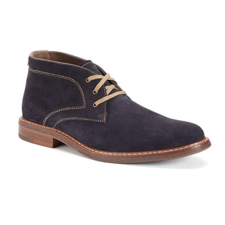 Chaps Vanderbilt Men's Suede Chukka Boots, Size: medium (7), Blue (Navy)