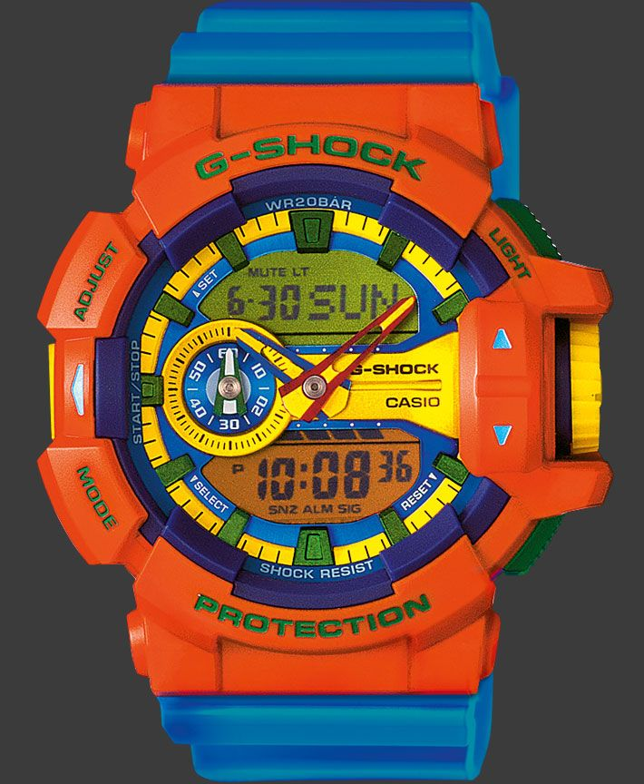 CASIO G-SHOCK Watch - GA-400-4AER red or pink Very cool G Shock Watches,
