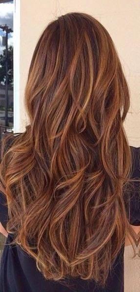23 Ideen Haarfarbe Ombre Rot Burgund Highlights