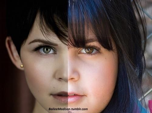 The resemblance between Ginnifer Goodwin/adult Snow (left) and Bailee Madison/young Snow (right)