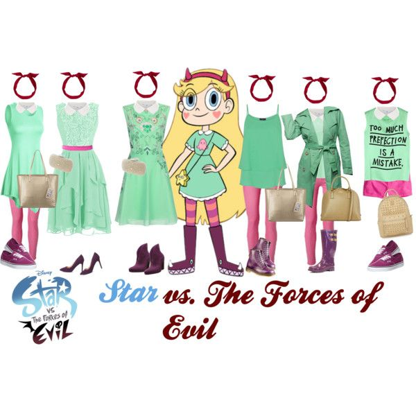 Star vs. The Forces of Evil - fancy and casual by catlyp on Polyvore featuring Frock and Frill, 5 Preview, Zoe Karssen, HotSquash, Tommy Hilfiger, American Eagle Outfitters, Melissa, Chooka, Vans and Forever 21