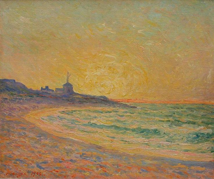 peira:  Maxime Maufra: Le Semaphore, Beg-Meil, Bretagne (1900) via Wikipaintings
