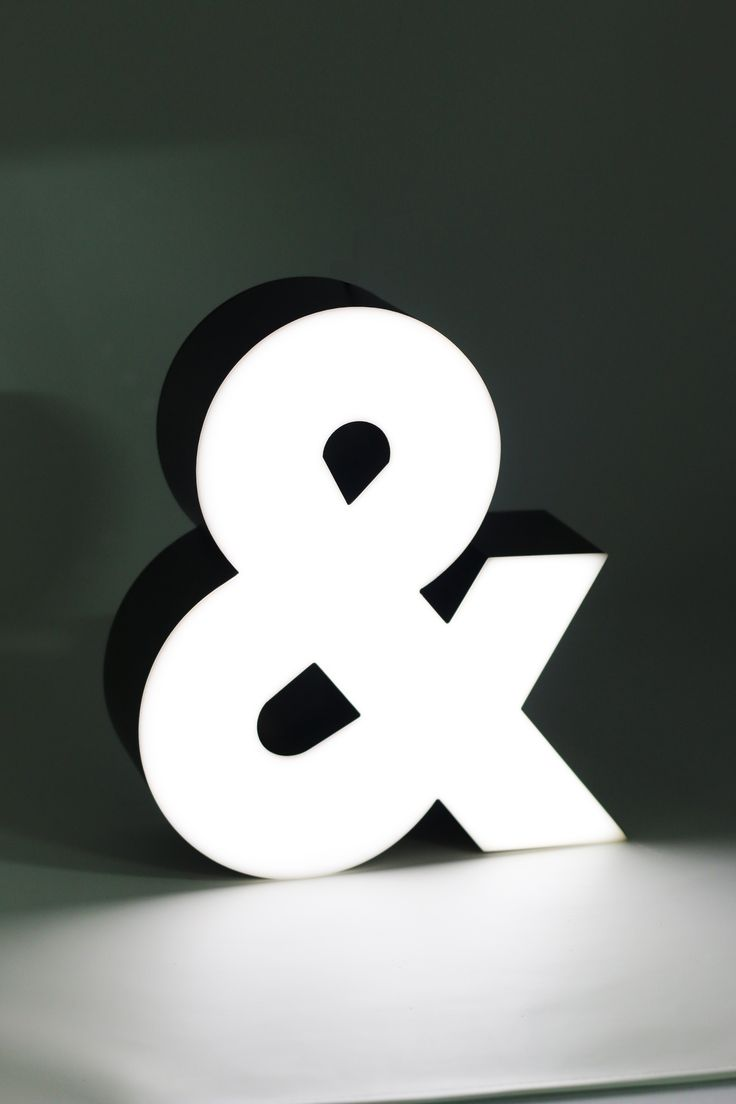 Ampersand @ LAMBO Collection, Illuminated Marquee Lighting, a product ready in a luxury packaging, perfect for gift