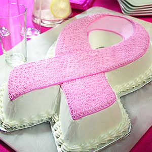 Bake Up Support for Breast Cancer Awareness - Strawberry Pink Ribbon Cake. Yum!