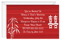 Double Happiness Invitation Card