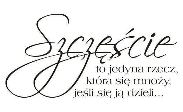 Cytaty, sentencje, napisy - Szczęście to jedyna rzecz... - 61
