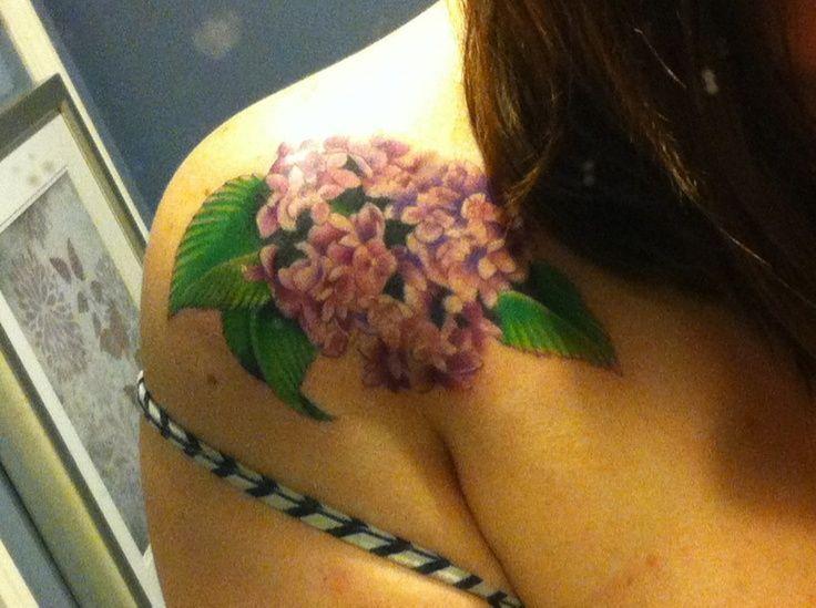hydrangia Tattoo Designs | via rosie doe