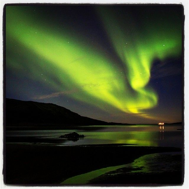 Loop Canada Fly Fishing. Happy New Year! Hope 2014 is off to a great start for all of you. A beautiful picture of the Northern Lights over Hrauneyjar Highland Center, Iceland. Photo by Loop Canada Prostaffer, Ray Plourde, NS.