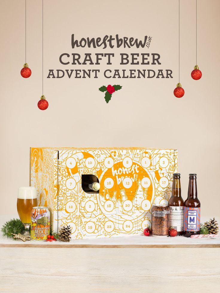Craft Beer Advent Calendar for Christmas, which features 24 top bottles and cans from around the world. Buy craft beer online from HonestBrew.