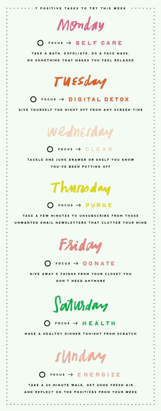 wöchentliche Self-Care Checkliste   – Lifestyle