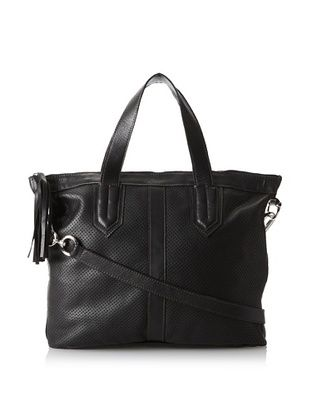 80% OFF Carla Mancini Women's Vivienne Tote, Black Perforated