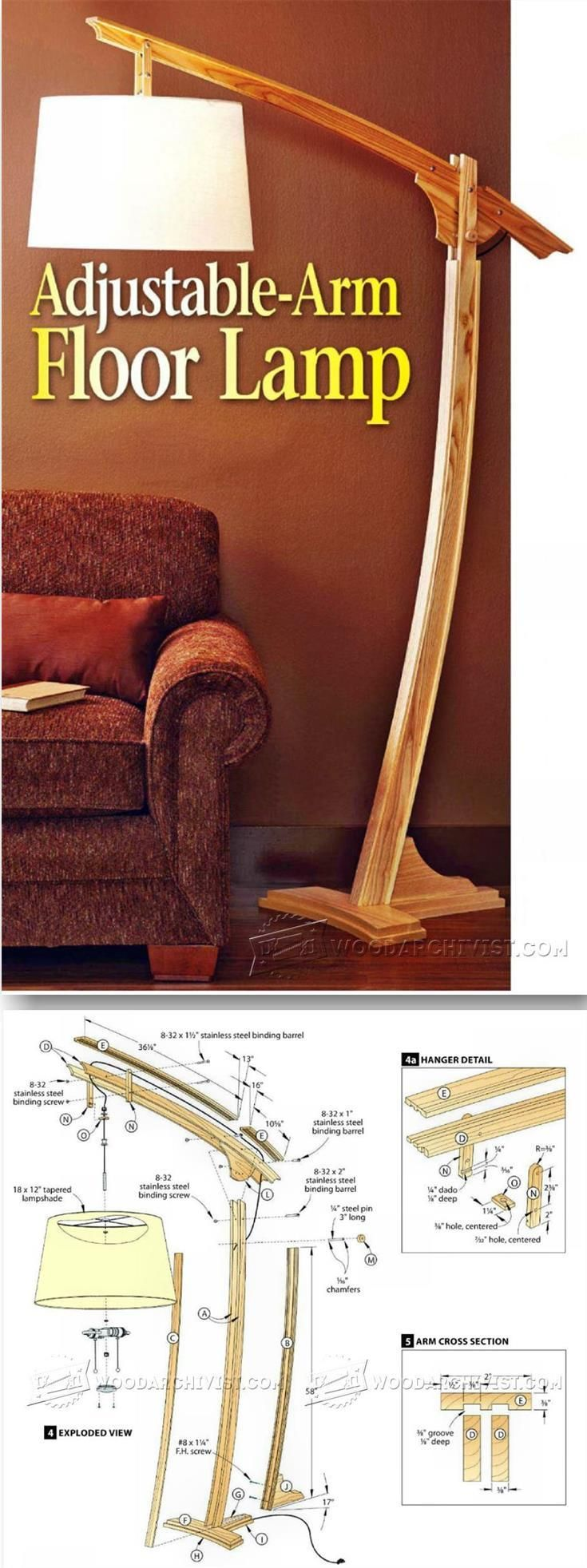 Wooden Floor Lamp - Woodworking Plans and Projects | WoodArchivist.com