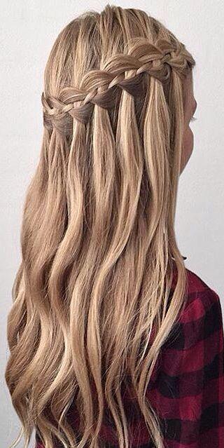 Waterfall braid #gorgeoushair | Hairstyles | Pinterest ...