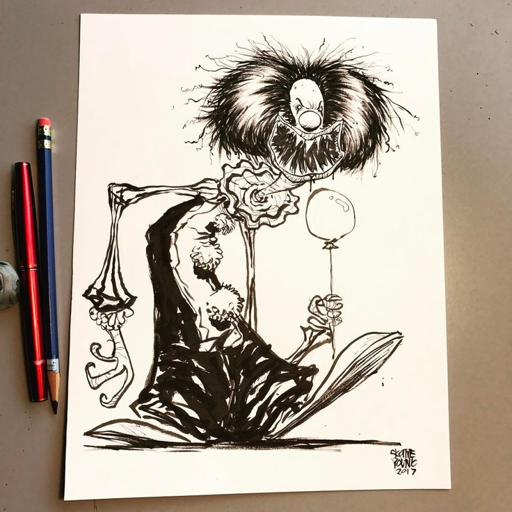 Pennywise #it #dailysketch #ink #stephenking #horror