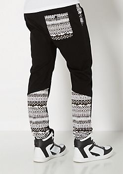 Gusseted Aztec Jogger | Joggers | rue21 for men but my husband can't fit em so i may try and see what they look like on me :)