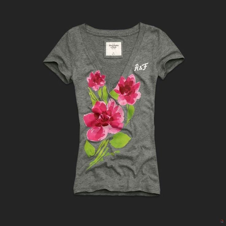 Abercrombie T-Shirts | ... Abercrombie and Fitch TShirts :: Abercrombie & Fitch Flower T-Shirts