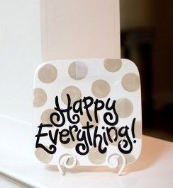 I want this so badly!! The mini- Happy Everything plate.  Wish mama still carried this line!