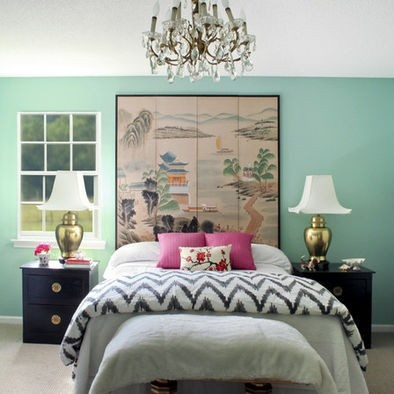 I think I'm going with a mint green accent wall instead of gray..brighten up the room a bit
