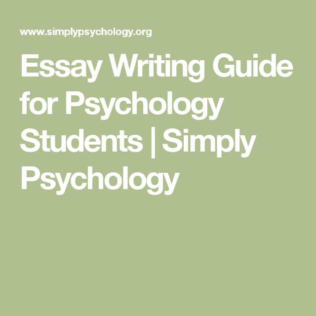 essay writing for psychology students Our students fear the judgment that will be rained down upon them in the  fear  of success: elite athletes and sports psychologists talk a lot.