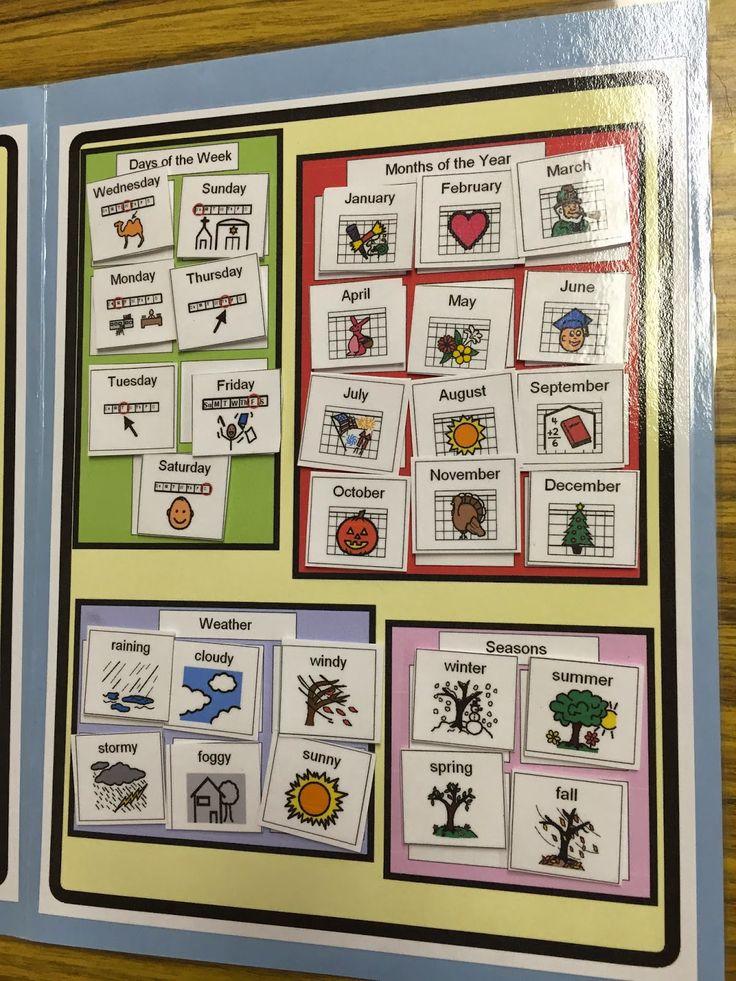 Kindergarten Calendar Folders : Best images about aba file folder work boxes on