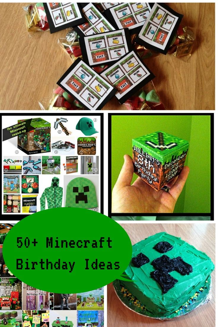 15 best minecraft party ideas images on pinterest. Black Bedroom Furniture Sets. Home Design Ideas