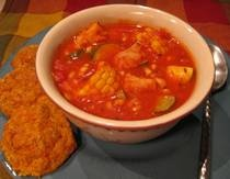 Tex Mex Mahi Mahi Fish Stew Recipe -- How to Make Southern Style Fish Stew with Corn & Beans