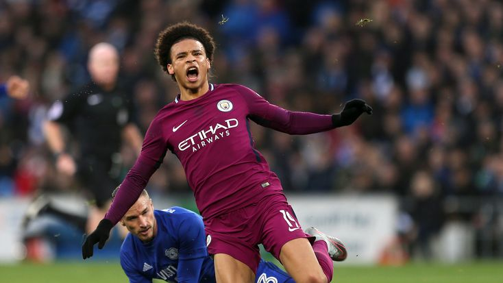 Manchester City star Leroy Sane suffered ankle ligament damage in Cardiff #News #ClubNews #composite #Football #ManCity