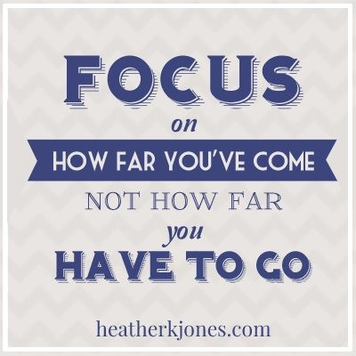 Focus on how far you've come... | We all need a little inspiration every now and then!