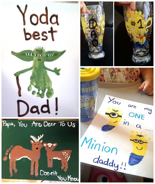Father's Day Footprint Gift Ideas from the Kids - Crafty Morning