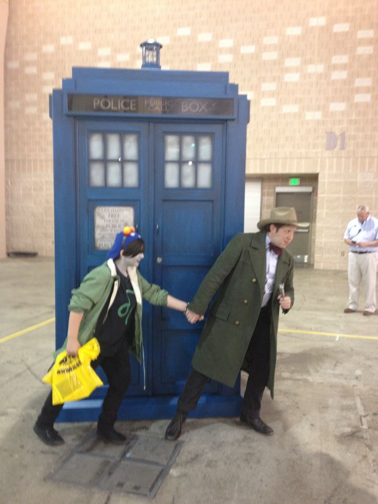"""Me and the doctor doing the """"grab her hand and whisper run"""""""