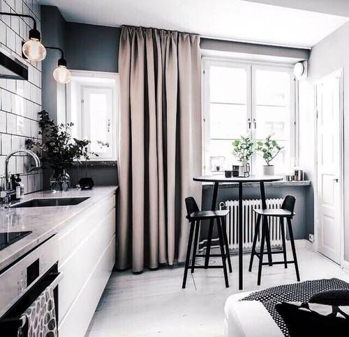 muted colored kitchen