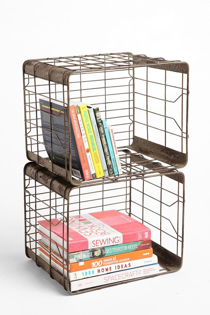 Wire Storage Basket (Charcoal) - $39.00 | Urban Outfitters